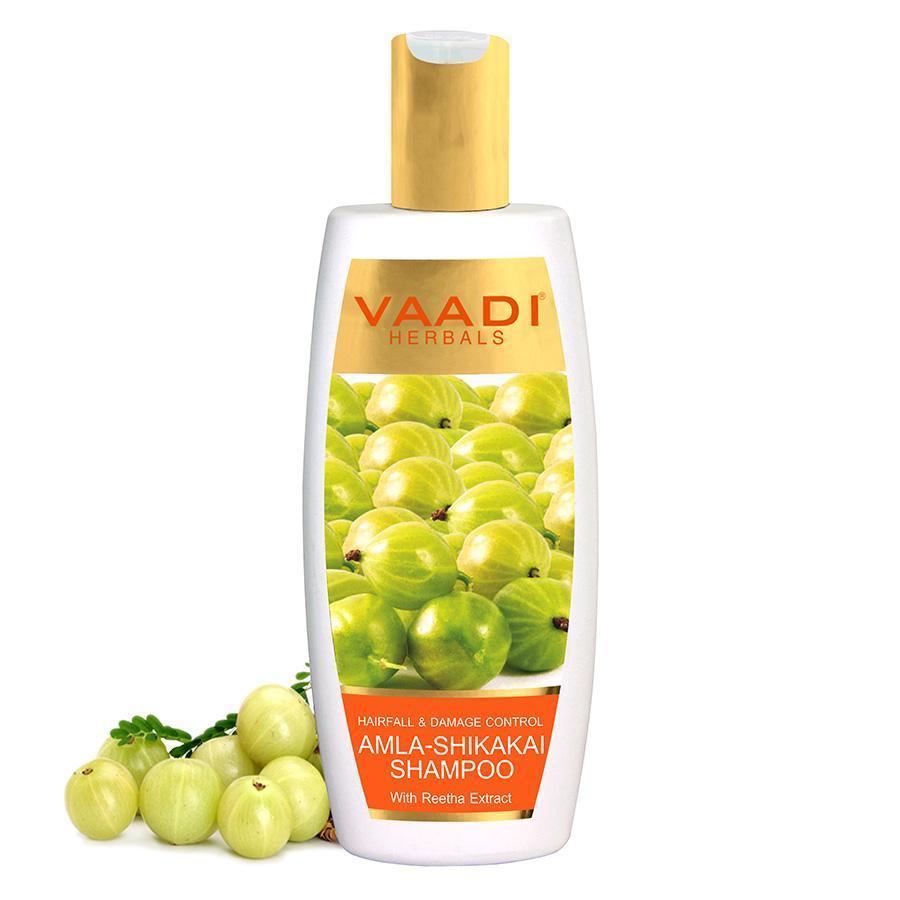 Vaadi Herbals Hairfall & Damage Control Organic Shampoo (Indian Gooseberry Extract) (350 Ml/12 Fl Oz)