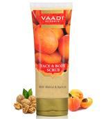 Vaadi Herbals Organic Face & Body Scrub With Walnut & Apricot - Exfoliates & Unclogs Pores (110 Gms / 4 Oz)