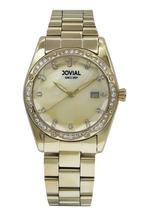 JOVIAL 9157LGMQ07ZE Women's Fashion Stainless steel Band Watch,31mm,Champange