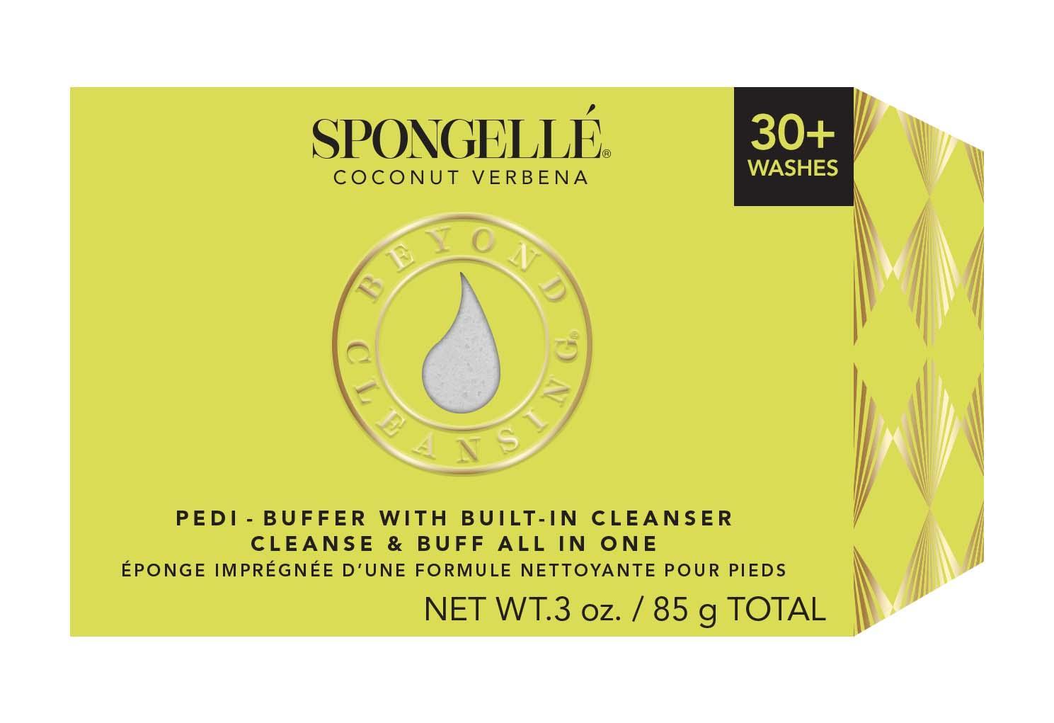 Spongelle Pedi Buffer - Coconut Verbena 30+ Washes, 85g