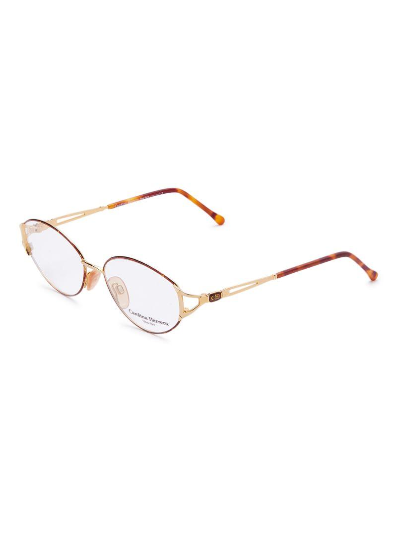 Carolina Herrera (CH) New York Frame for Unisex Gold Plated and Brown CH710-GP605-55-17-130