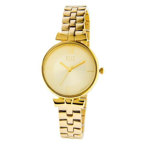 ELIZ Women's Eliz Splendeur ES8628L2GCG - High quality minimalist fashion watches for women - Stainless Steel PVD Gold Plating Case and Band - Champagne Dial - 3 ATM Water Resistant.