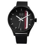 ELIZ Eliz ES8684G2NNN - Mens - 44mm PVD Black Plated Stainless Steel Case - Black Dial