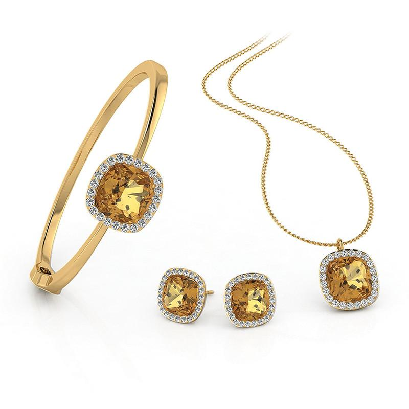 FIERRO 18K Gold Plated Jewelry Set