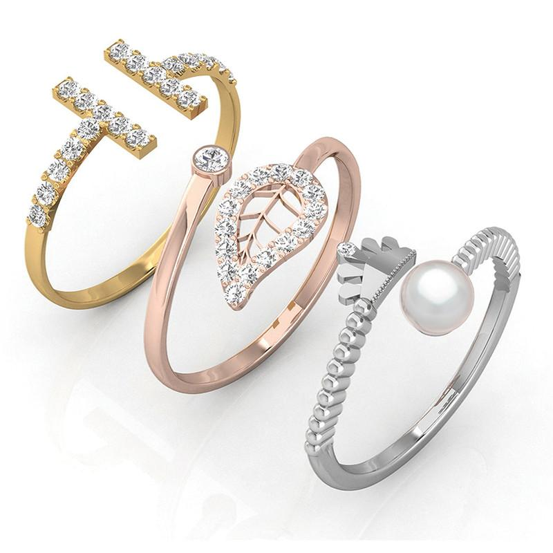 FIERRO Set of 3 Adjustable Rings
