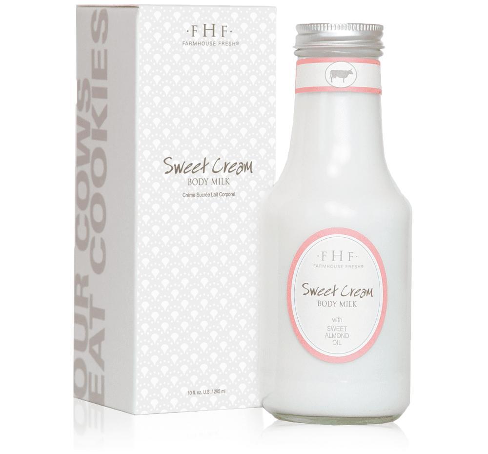 Farmhouse Fresh Sweet Cream Body Milk - Handled Cruet 295ml