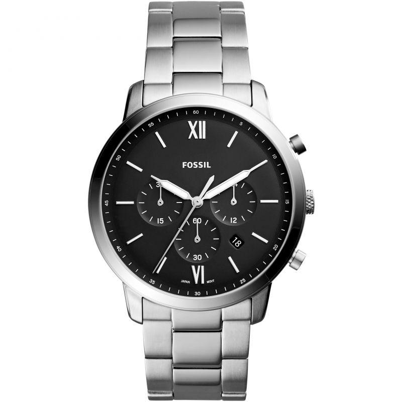 Fossil Men's 'Neutra Chrono' Quartz Stainless Steel Casual Watch, Color:Silver-Toned FS5384
