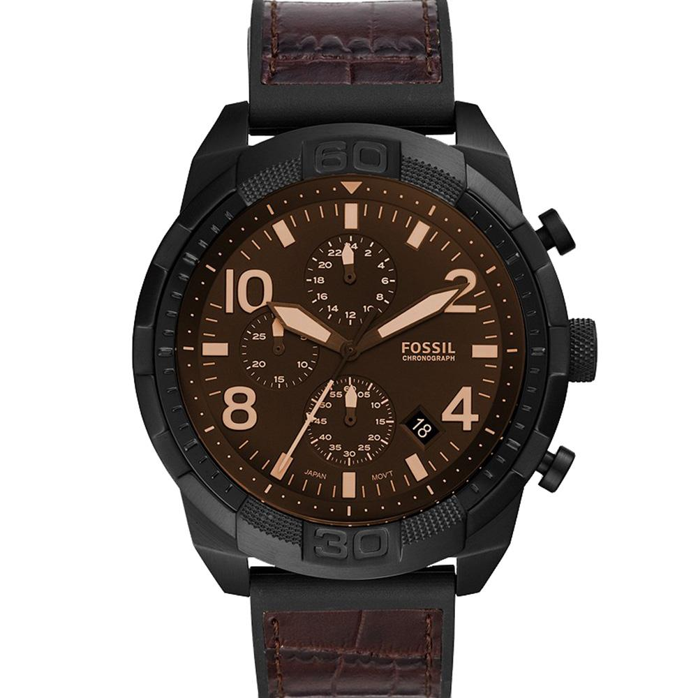 Fossil Bronson Chronograph Quartz Brown Dial Men's Watch FS5713