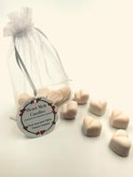 Heart Melt Candles Pure Soy Wax Melts(Pack of 6 heart shaped melts of 10 g each)-French Vanilla Scented