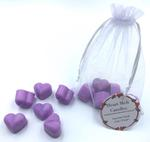 Heart Melt Candles Pure Soy Wax Melts(Pack of 6 heart shaped melts of 10 g each)-Lilac Flower Scented
