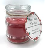 Heart Melt Candles Pure Soy Wax Handmade Jar Candle-Apple Cinnamon scented(Net Weight:100 gms)