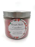 Heart Melt Candles Pure Soy Wax Handmade 2 Wick Jar Candle-Apple Cinnamon scented(Net Weight:270 gms)