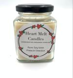 Heart Melt Candles Pure Soy Wax Handmade Jar Candle-French Vanilla Scented(Net Weight:160 gms)