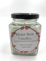 Heart Melt Candles Pure Soy Wax Handmade Jar Candle-Honey Dew scented(Net Weight: 160gms)