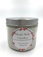 Heart Melt Candles Pure Soy Wax Handmade 2 Wick Jar Candle-Honey Dew scented(Net Weight: 270gms)