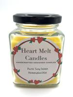 Heart Melt Candles Pure Soywax Handmade Jar Candle-Honeysuckle Scented(Net Weight:160 gms)
