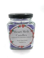 Heart Melt Candles Pure Soy Wax Handmade Jar Candle-Mulberry Scented(Net Weight:160gms)