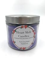 Heart Melt Candles Pure Soy Wax Handmade 2 Wick Jar Candle-Mulberry Scented(Net Weight:270gms)