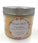 Heart Melt Candles Pure Soy Wax 2 Wick Jar Candle-Orange Peel Scented(Net Weight:270gms)