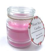 Heart Melt Candles Pure Soy Wax Handmade Jar Candle-Romantic Rose scented(Net Weight: 100 gms)