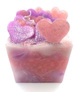 """Heart Melt Candles Happy Hearts Handmade Pillar Candle - Rose Scented(5""""x4"""")"""