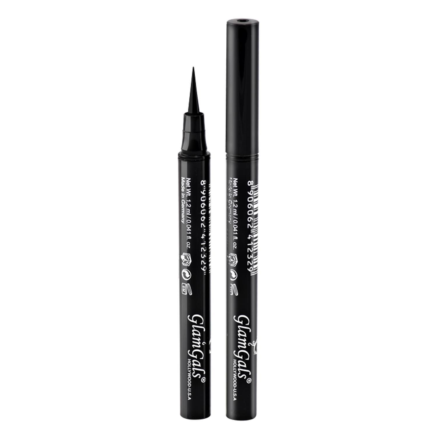 GLAM GALS HOLLYWOOD-U.S.A Waterproof Inkliner,Black,1.2ml