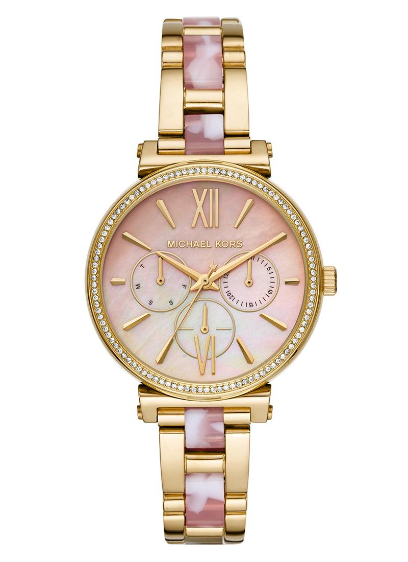 Michael Kors Sofie Analog Pink Dial Women's Watch-MK4344