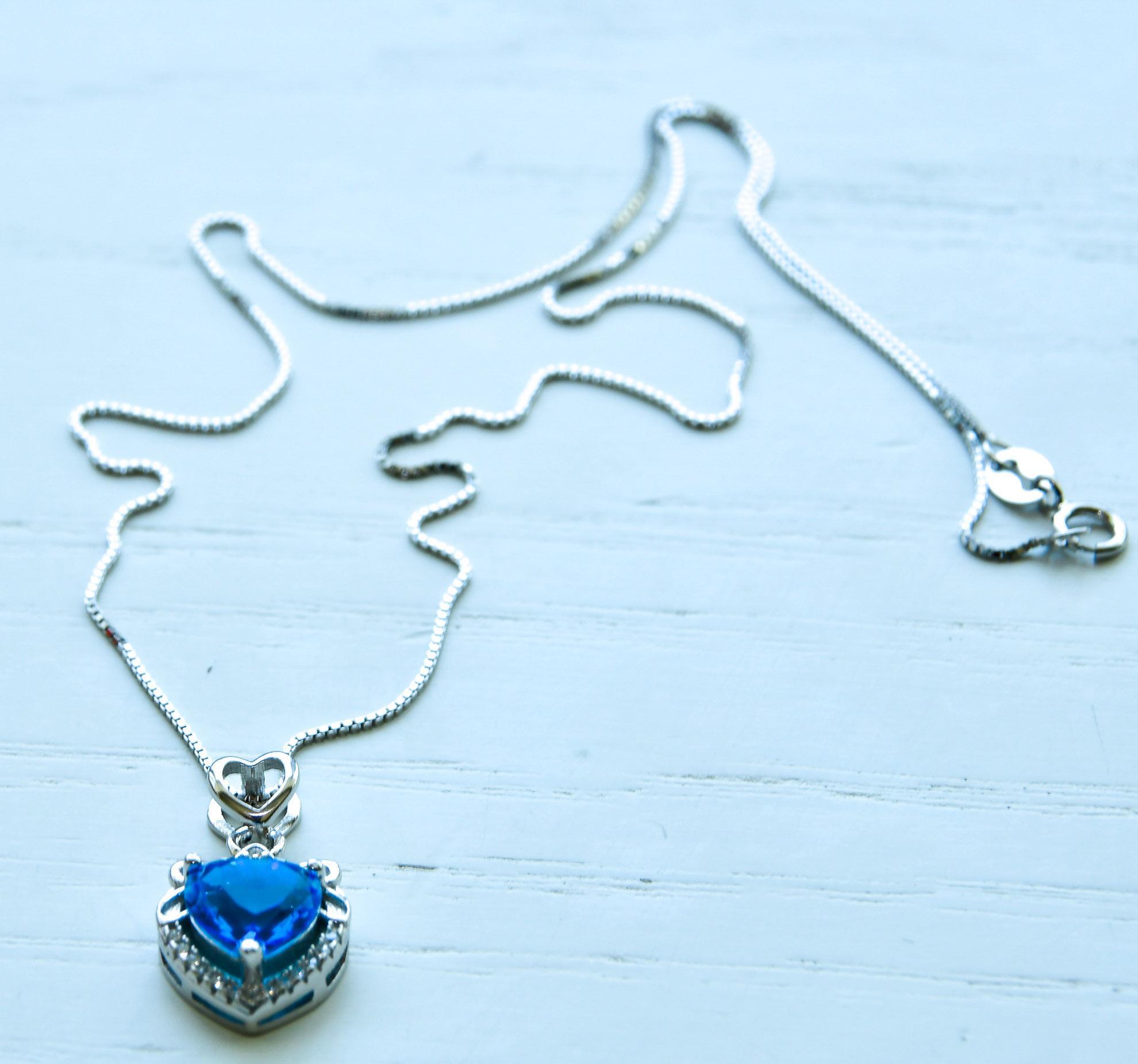 Ocean Heart Necklace Necklace 1