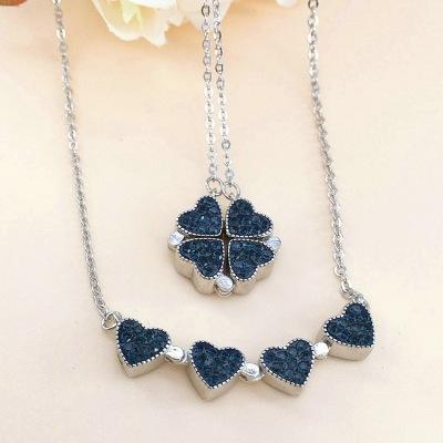 4-Hearts Femininity 925 Silver Necklace Necklace 4
