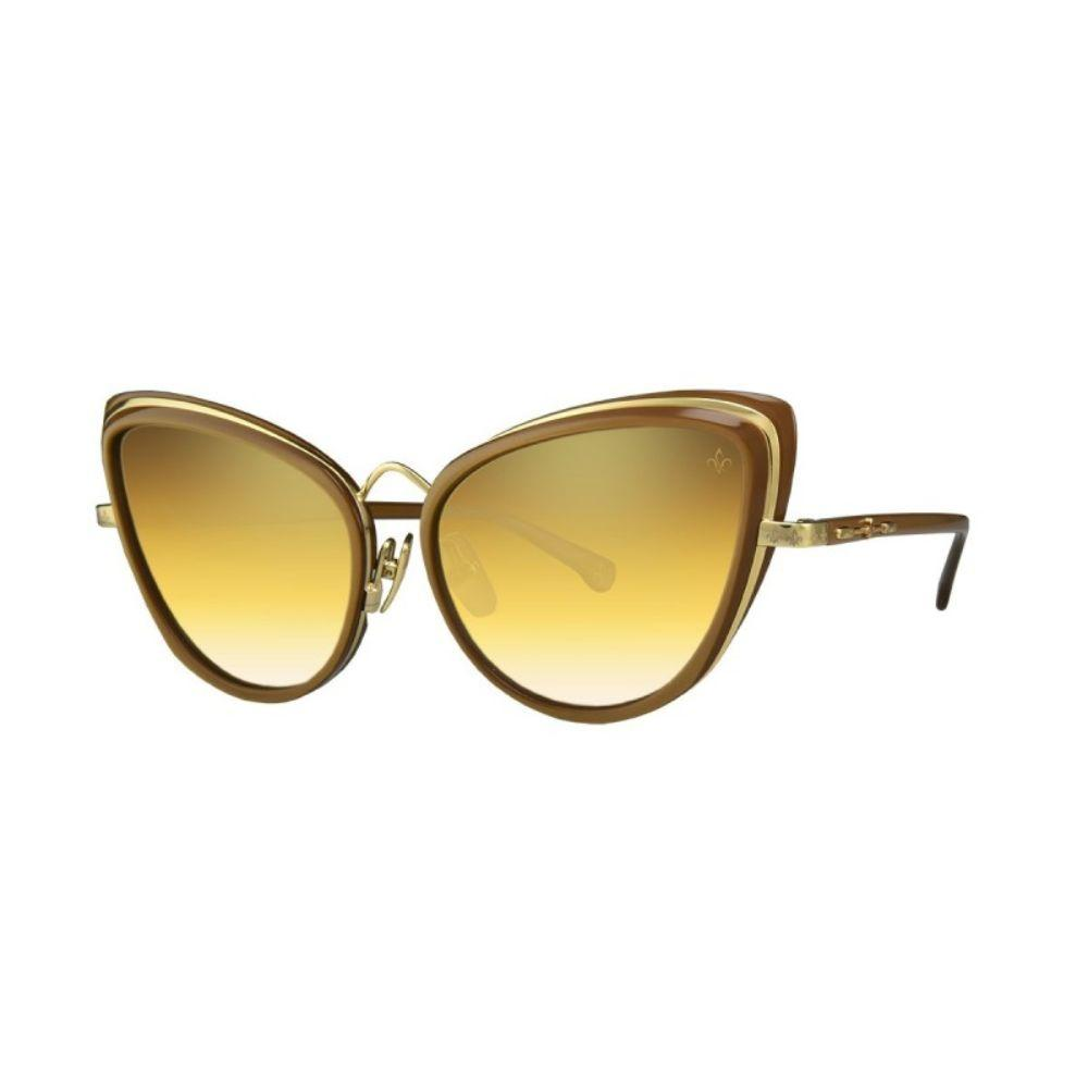 PHILIPPE V Sunglasses Women's gold and brown with champagne lenses Sunglasses