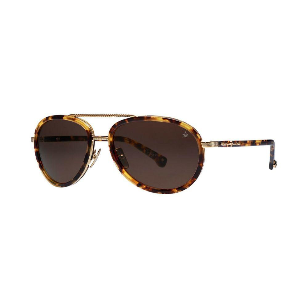 PHILIPPE V N2 Sunglasses Unisex Eyewear Tortoise/Brown frame