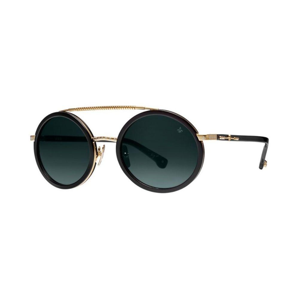 PHILIPPE V N6 Sunglasses Unisex Eyewear Black Gold frame