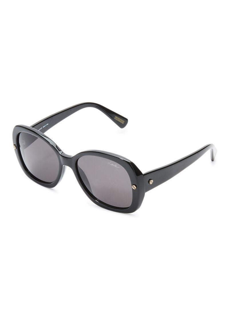 LANVIN PARIS Women's Oval Shape DESIGNER Sunglasses Black Frame Lens Black SLN500-55-700 Size 55x18x140mm
