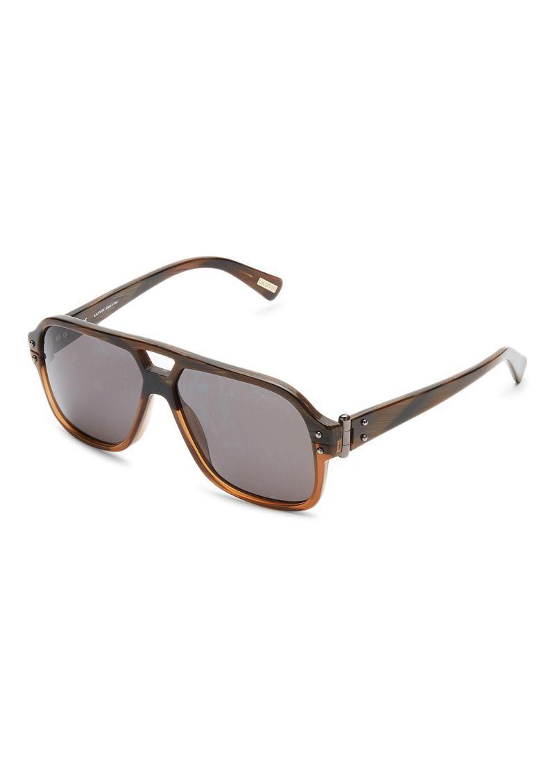 LANVIN PARIS Oversized Unisex Sunglasses SLN507-58-M33P Size 58-13-140mm