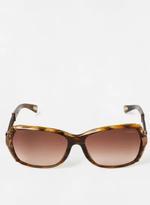 Lanvin Women's SLN550 09ZA Brown Horn Sunglasses Gradient Lens