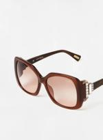 Lanvin Oval Women's Sunglasses -Brown Lanvin