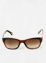 Unisex Rectangular with designed framce with multi color sunglasses