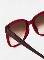Unisex Rectangular Frames Sunglasses with purple color Frames