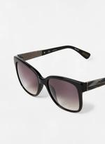 Lanvin Unisex Rectangular Black with horn Sunglasses