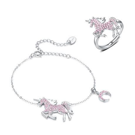Women 925 Sterling Silver Unicorn Jewelry Set Set 3