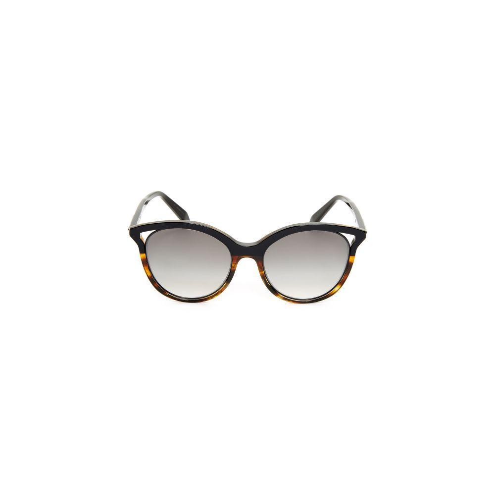 Victoria Beckham Cut Away Kitten Black/Havana Mix Frame Sunglasses