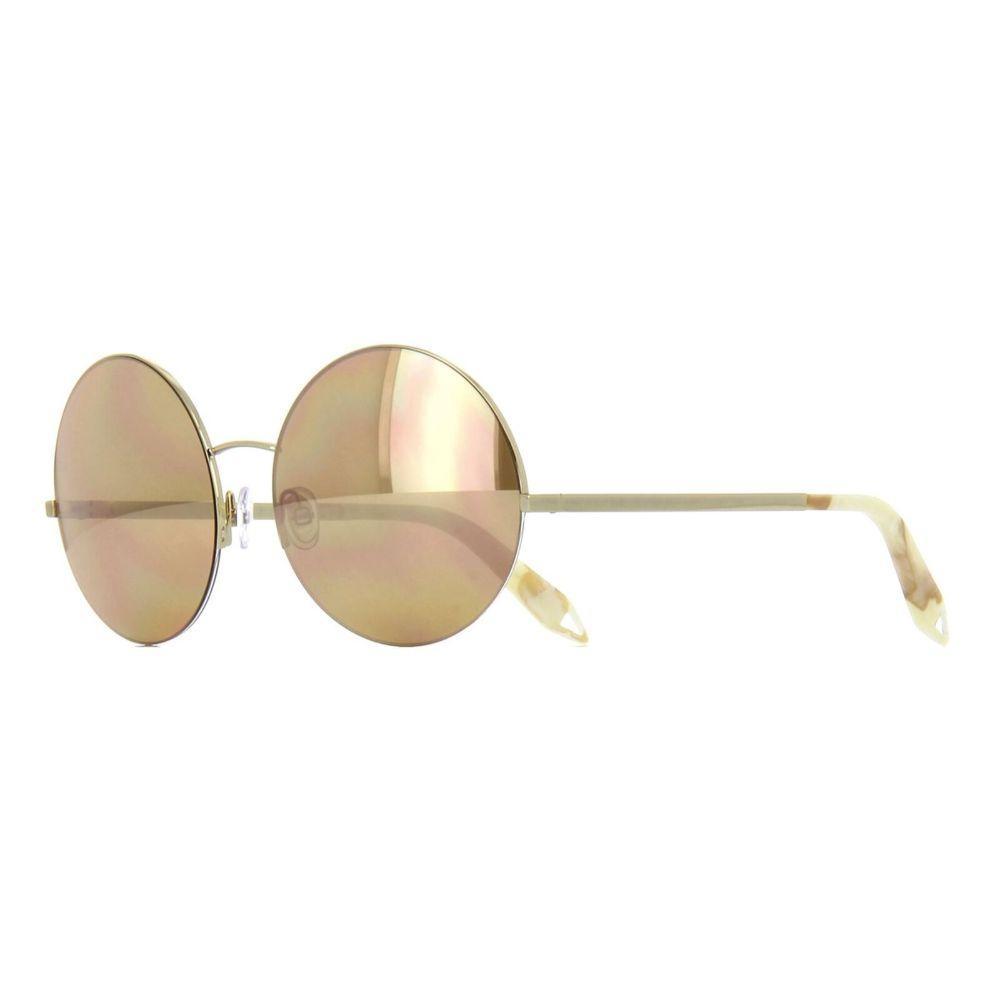 Victoria Beckham Unisex Round Shape Gold Metal Frame Sunglasses