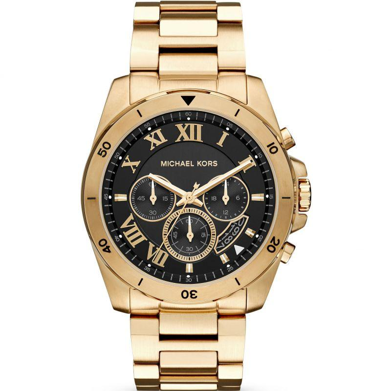 Michael Kors Mens Quartz Watch, Chronograph Display and Stainless Steel Strap MK8481