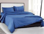 Oxford Street WI Self Check King Size Royal Blue Bedsheet