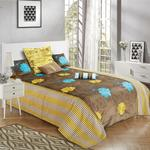 H398 VEL D.1261 BROWN BED COVER