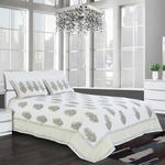 ASSORTED COTT PATCH GREEN BED COVER