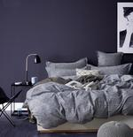 Four Season Abstract Printed Double Bedsheet Grey