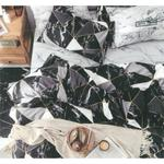 Four Season Geometrical Printed Double Bedsheet Black