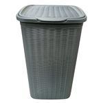 Elegance Grey Wicker 50 Ltr. Laundry Basket