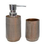 Copper Check Bathroom Set
